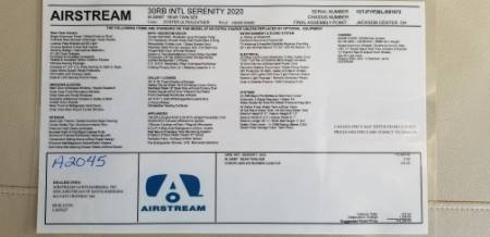 2020 Airstream International Serenity 30RB Rear Twin