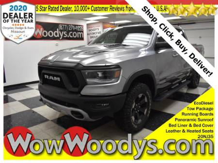 2020 RAM 1500 Rebel Crew Cab 4X4 3.0L V6 Diesel Tow Package Running Boards Bed Liner