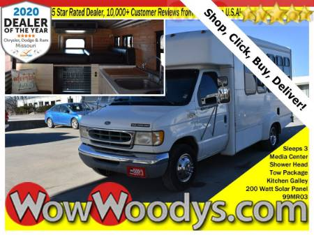 1999 Ford Econoline Cutaway Conversion Van 6.8L V10 Sleeps 3 Galley Kitchen Outdoor Shower Tow Packages