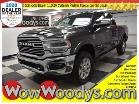 2020 RAM 2500 Laramie Crew Cab 4X4 6.7L I6 Diesel Tow Package 5th Wheel Hitch Power Running Boards Bed Liner